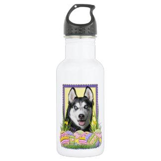 Easter Egg Cookies - Siberian Husky Water Bottle