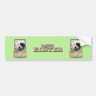Easter Egg Cookies - Tibetan Terrier Bumper Sticker