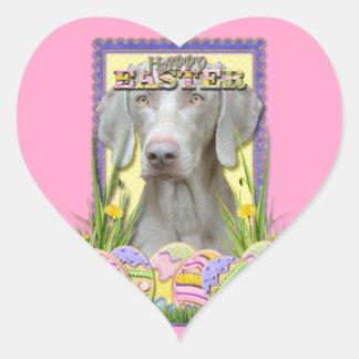 Easter Egg Cookies - Weimaraner Heart Sticker