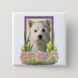 Easter Egg Cookies - West Highland Terrier Button