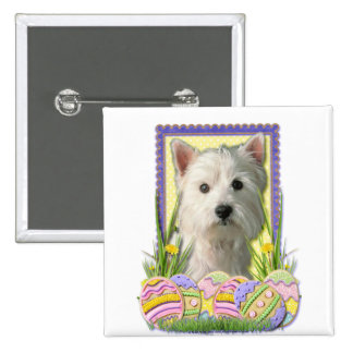 Easter Egg Cookies - West Highland Terrier Buttons