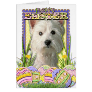 Easter Egg Cookies - West Highland Terrier Card