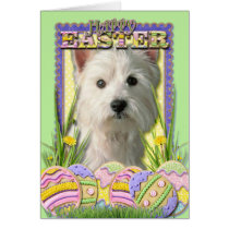 Easter Egg Cookies - West Highland Terrier Card