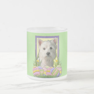 Easter Egg Cookies - West Highland Terrier Frosted Glass Coffee Mug