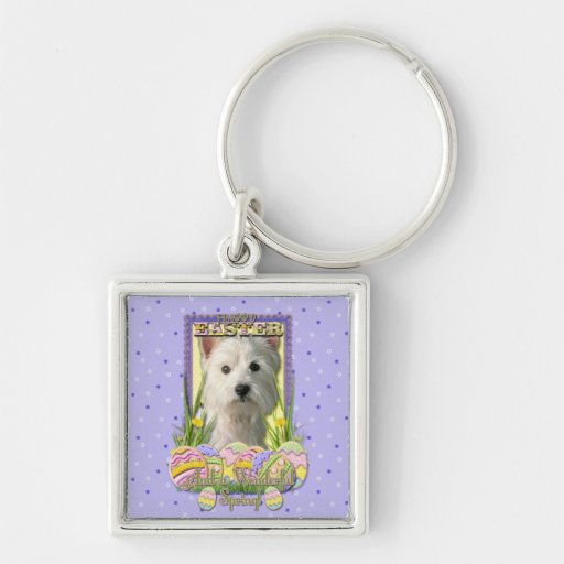 Easter Egg Cookies - West Highland Terrier Keychains