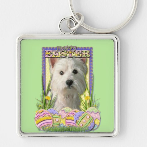 Easter Egg Cookies - West Highland Terrier Key Chain