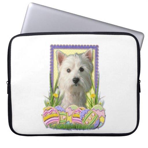 Easter Egg Cookies - West Highland Terrier Computer Sleeves