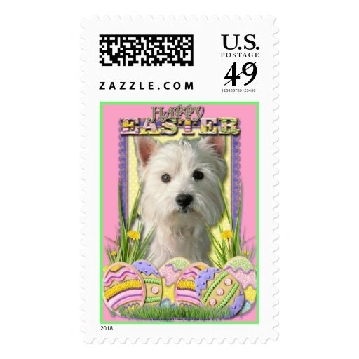 Easter Egg Cookies - West Highland Terrier Postage