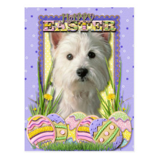 Easter Egg Cookies - West Highland Terrier Postcard