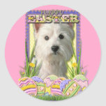Easter Egg Cookies - West Highland Terrier Classic Round Sticker