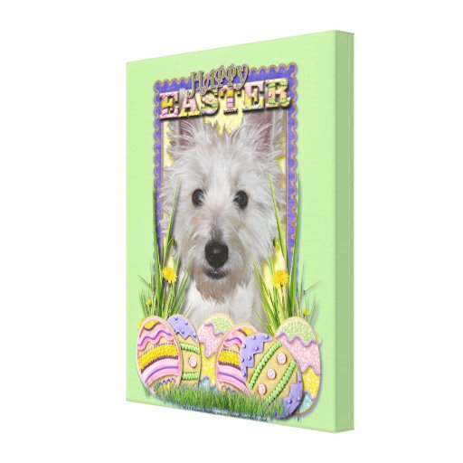 Easter Egg Cookies - West Highland Terrier - Tank Canvas Print