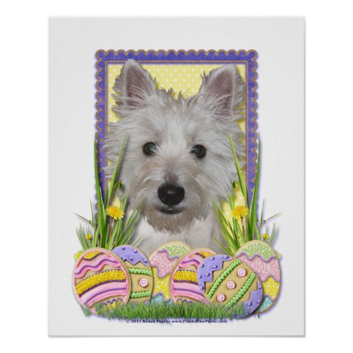 Easter Egg Cookies - West Highland Terrier - Tank Poster
