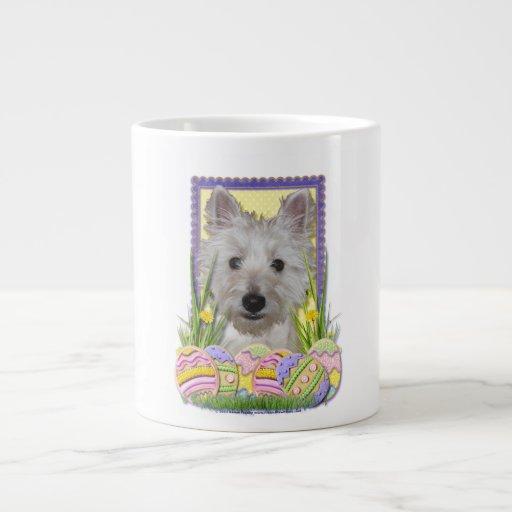 Easter Egg Cookies - West Highland Terrier - Tank 20 Oz Large Ceramic Coffee Mug