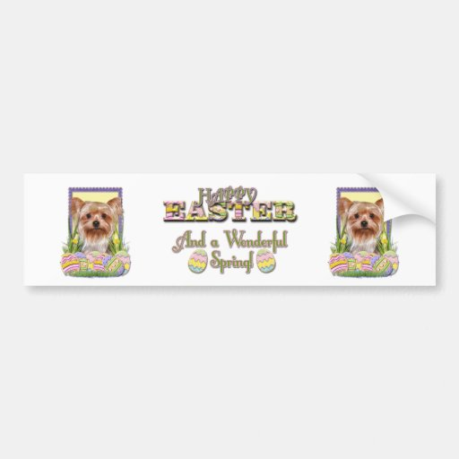 Easter Egg Cookies - Yorkshire Terrier Bumper Stickers