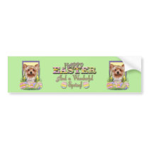 Easter Egg Cookies - Yorkshire Terrier Bumper Sticker