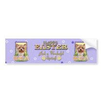 Easter Egg Cookies - Yorkshire Terrier Bumper Sticker