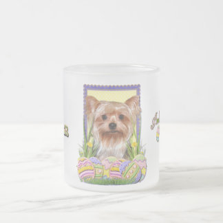 Easter Egg Cookies - Yorkshire Terrier Frosted Glass Coffee Mug