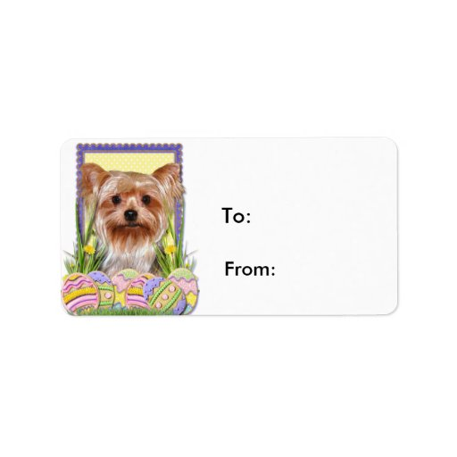 Easter Egg Cookies - Yorkshire Terrier Personalized Address Labels