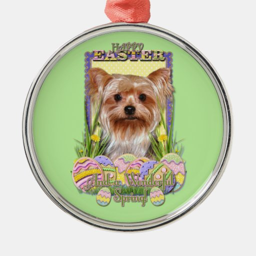 Easter Egg Cookies - Yorkshire Terrier Christmas Ornament