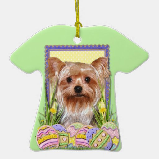 Easter Egg Cookies - Yorkshire Terrier Christmas Ornaments