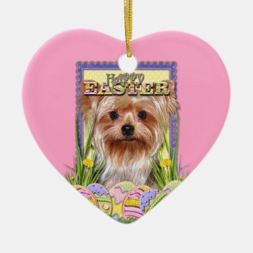 Easter Egg Cookies - Yorkshire Terrier Christmas Tree Ornament