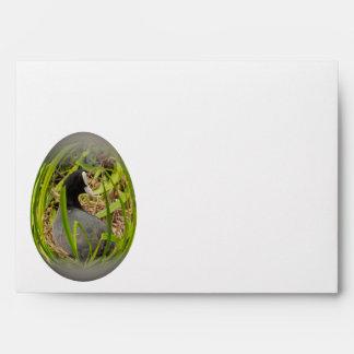 easter egg coot on her nest envelope