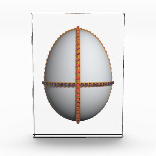 easter egg cross with gold and rubies award
