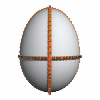 easter egg cross with gold and rubies cutout