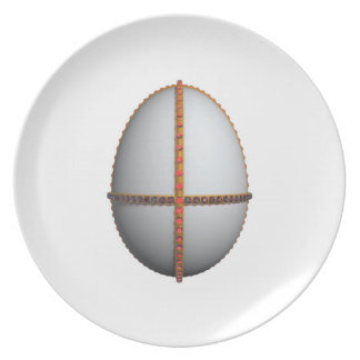 easter egg cross with gold and rubies plate