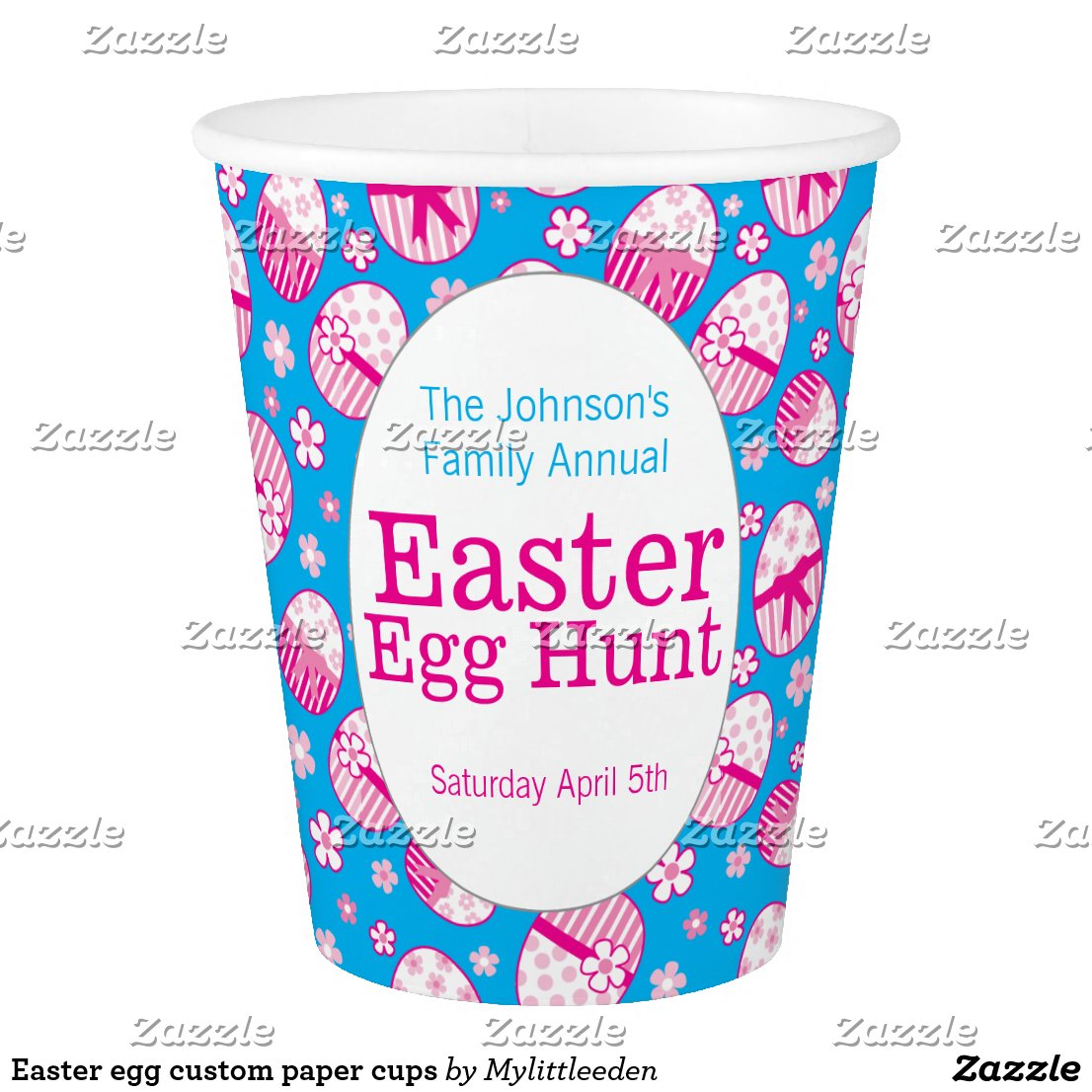 Easter egg custom paper cups