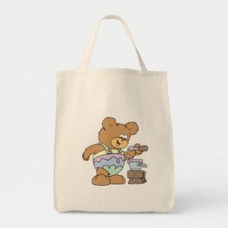 easter egg cute teddy bear silly design tote bag