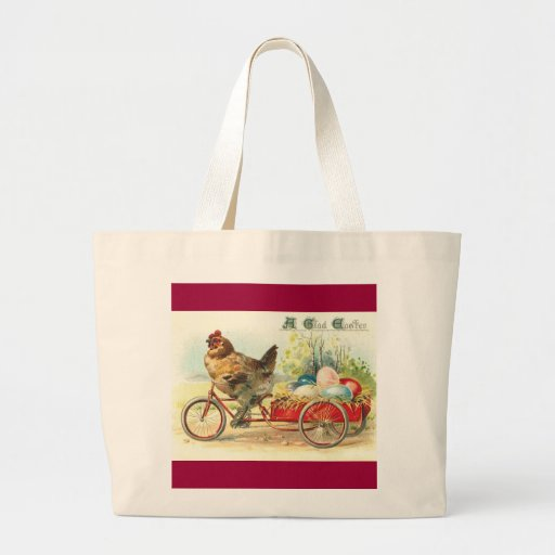 Easter Egg delivery service Jumbo Tote Bag