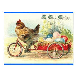 Easter Egg delivery service Postcard