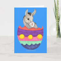 Easter Egg Donkey Card