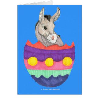 Easter Egg Donkey Card