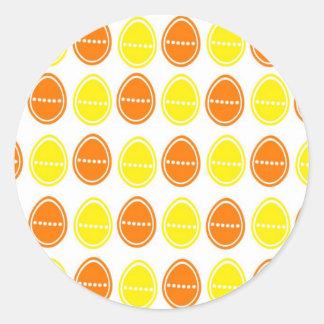 Easter Egg Egg-stra Sticker (Orange & Yellow)
