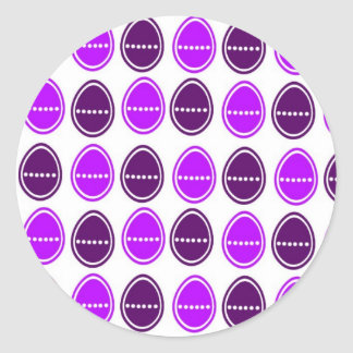 Easter Egg Egg-stra stickers (Purple)