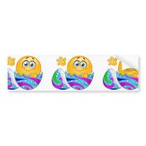 Easter egg Emoji Bumper Sticker