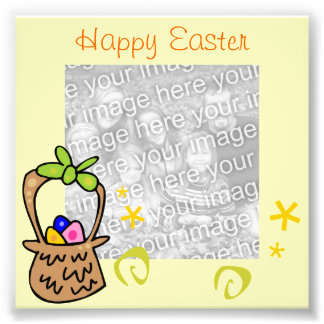 Easter Egg Frame Photo Photo