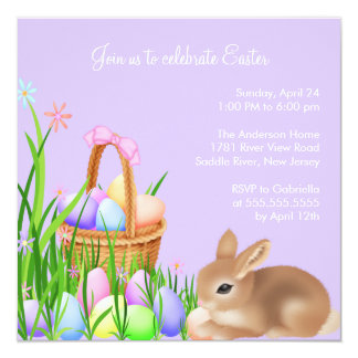 Easter Egg Garden Easter Dinner Party Invitation