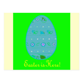 Easter Egg Greeting Postcard