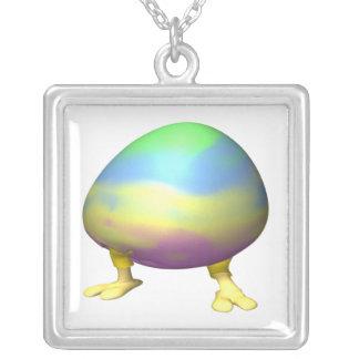 Easter Egg Hatchling Square Pendant Necklace