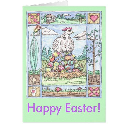 Easter Egg Hen, Happy Easter! Cards