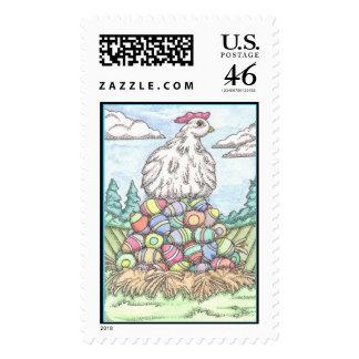 Easter Egg Hen Postage