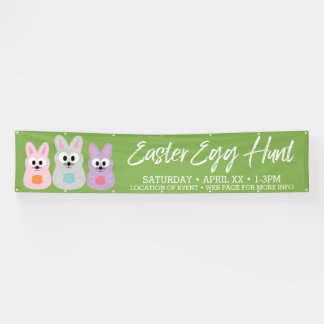 Easter Egg Hunt Advertisement - Cute Bunny Rabbits Banner
