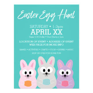 Easter Egg Hunt Advertisement - Cute Bunny Rabbits Flyer