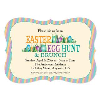 Easter Egg Hunt and Brunch, Colorful Eggs Card