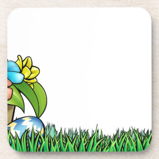 Easter Egg Hunt Background Beverage Coaster