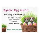 Easter Egg Hunt Boxer Dog party invitation