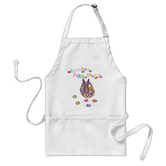 Easter Egg Hunt Bunny Basket Adult Apron